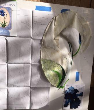 Iris Cameo quilt by Kari
